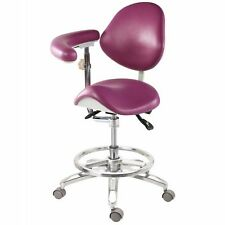 Dental Standard Deluxe Mobile Saddle Chair Assistant Doctor Stools High End