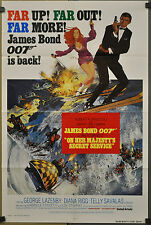 ON HER MAJESTY'S SECRET SERVICE R-1980 ORIG. 27X41 MOVIE POSTER GEORGE LAZENBY