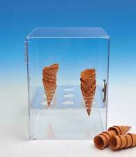 Ice Cream Cone Cabinet | Sugar & Waffle Cone Storage | Clear Cabinet | FREE SHIP