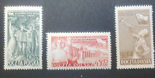 POLAND-STAMPS MNH Fi619-21 ScB79-80,561 Mi757-59 -Young labor leaders,1952,clean
