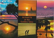 """*POSTCARD-""""Sunsets of The Golden Isles"""" ...GREETINGS"""