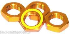 183158 Escala 1/8 Buggy 17mm de aleación de aluminio Rueda Lock Nuts 4 Amarillo M12 Hilo