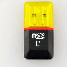 2PC USB 2.0 Micro SD SDHC TF Flash Memory Card Reader Mini Adapter for Laptop ET