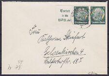 DR ZD W 84 EF auf Brief Mülheim - Gelsenkirchen 13.11.1940, Zusammendruck