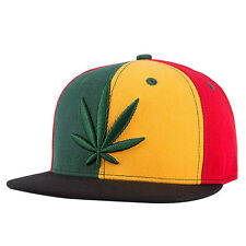 Unisex Mens Womens Boys Hemp Leaf Marijuana Weed  Rasta Green Baseball Hat Cap