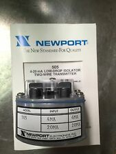 Newport Electronics 505 4-20 mA Low-Drop Isolater (two) 2-wire Transmitter ~New~
