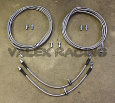 Complete Stainless Rear Brake Line Replacement Kit 96-00 Honda Civic w/rear drum