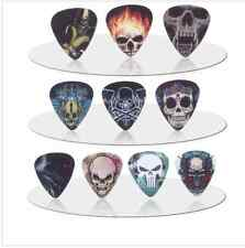Human Skull Skelton Flame Guitar Picks Lot of 10 .71 mm Rock Metal US Seller New