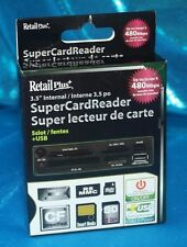 "Retail Plus RetailPlus Multimedia Internal Super Card 480 Mbps 3.5"" 5 slot + usb"