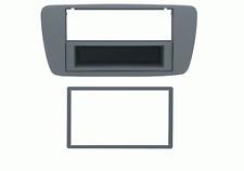 Mascherina con foro 2DIN-ISO colore grigio azzurro Seat Ibiza 08 12