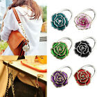2015 Portable Folding Handbag Rose Hook Hanger Holder Bag Locking Device  Trendy