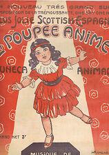 LA POUPÉE ANIMÉE Muñeca animada SCOTTISH ESPAGNOLE pour PIANO Musique L.L. LYNDE