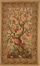 Handmade 100% Cotton Tree of Life Tapestry Tablecloth Spread Dorm Twin w/Loops