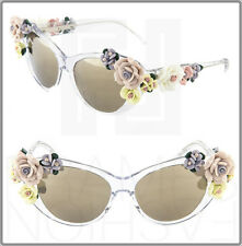 Dolce Gabbana FLOWERS Butterfly Crystal Sunglasses Gold Mirrored DG 4180 Women