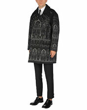 New £3700 Dolce & Gabbana Oversized Padded and Printed Runway Coat