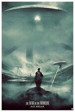 War of the Worlds HG Wells Screen Print Poster Karl Fitzgerald No. /105 NT Mondo