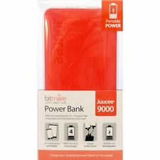 BITMORE Juucee 9000mAh DualPort Slim Power Bank RED Apple Android POKEMON GO
