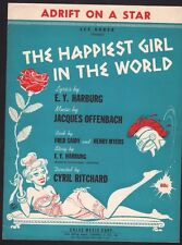 Adrift On A Star 1961 Happiest Girl in the World 98 performances Sheet Music