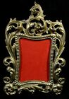 Antique Brass Easel Back Picture Frame Thick Heavy Ornate 8 x 11 Aged Patina