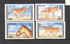 Mongolia 1988 Wild Ass/Animals/Horses 4v set (n15621)