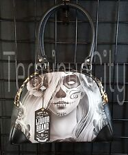 LIQUOR BRAND LOVE BOWLING HANDBAG Purse Bag Pinup Sugar Skull Day Of Dead Girl