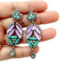BNWOT ANTHROPOLOGIE BAROQUE BIJOU CRYSTAL EARRINGS GORGEOUS!!