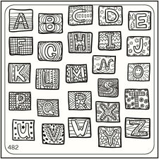 MoYou Nail Fashion Square Stamping Image Plate 482 Trendy Style