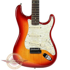 2004 Fender American Deluxe Ash Stratocaster Strat Aged Cherry Electric Guitar
