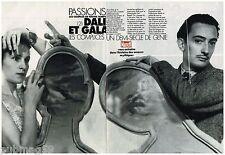 Coupure de presse Clipping 1990 (13 pages) Salvador Dali et Gala