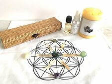 Crystal Grid Cloth, Wealth Energy, Tumbled Stones, Candle, Mist, &Oil