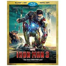 Iron Man 3 (Blu-ray/DVD, 2013, 2-Disc Set) Robert Downey Jr