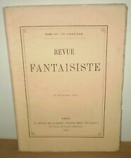 REVUE FANTAISISTE N° 17. BAUDELAIRE, BANVILLE, ASSELINEAU/ pré-originales 1861