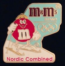 Nordic Combined Olympic Pin Badge~Albertville Winter Games~1992~Sponsor~M&M Mars