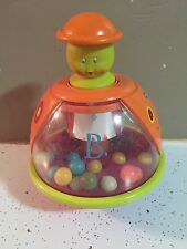 Battat B. Poppitoppy Baby Toy Spinning Balls Top Push To Pop