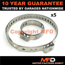 CAR ATV FITS 99% OF VEHICLES CV BOOT STAINLESS STEEL CLAMPS PAIR X 5