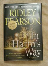 In Harm's Way Bk. 4 by Ridley Pearson SIGNED 2010 HCDJ 1st Edition 1st Printing