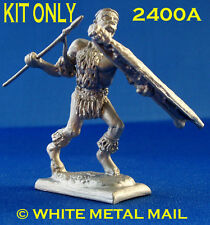 Military Lead Casting LA2400A Zulu Warrior Running Spear & Shield KIT ONLY