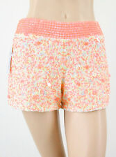 French Connection Sweet Mix Sequin Shorts Pink Orange White 0 $198 7238D BMY