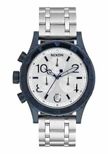 **BRAND NEW** NIXON WATCH THE 38-20 CHRONO NAVY SILVER A4041849 NEW IN BOX!