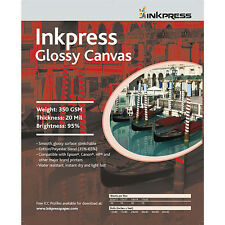 "Inkpress Glossy Canvas, Inkjet Art Printer Paper 17""x35' Roll"