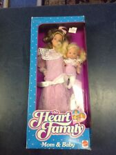 The Heart Family Mom & Baby NIB NEW 1988 Mattel Dolls Nos