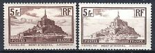 "FRANCE STAMP TIMBRE 260 / 260a "" MONT SAINT MICHEL TYPE I+II"" NEUFS xx TTB  P495"