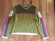 OBERMEYER Girl's Green Pull-Over Sweater  Sz L Juniors Ski Snowboard Snow Winter