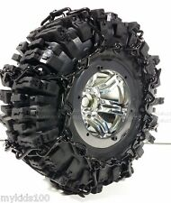 """2 Black Snow Chains Fit RC4WD # Z-T0097 RC4WD Mud Slinger 2.2"""" Tires. Crawler"""