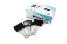 "New 12 PCs 51mm 2"" Binder Clips, small Size Metal Paper Binding Office 1 DOZ"