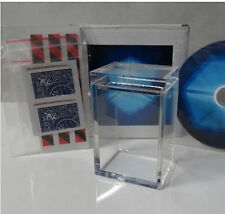 The Clarity Box magic(Gimmick and DVD)Card Close up Magic,Mentalism,Illusions