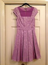 Warehouse Lilac Dress Size 10
