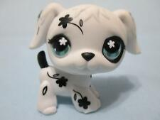 Littlest Pet Shop #469 RARE Black & White Flower Dalmatian Puppy DOG 100% Authen