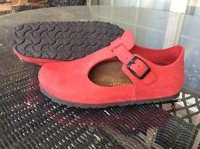 Birkenstock Paris Shoe Red Nubuck  Leather Euro 37 L6