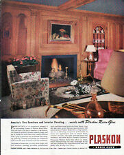 1945 PLASKON RESIN GLUE AD- INTERIOR PANELING - LOF